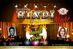 Hindi Night @ Oval Bar, RSC Kiara