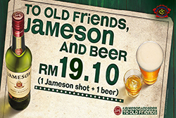 JAMESON AND BEER