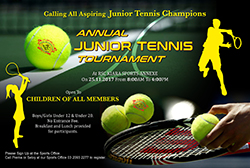 Annual Junior Tennis Tournament